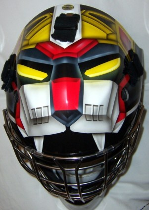 Dwight D. Jacobs, also known as 'Night Watch,' wore this Voltron goalie helmet that was confiscated during his arrest. Jacobs' mugshot, however, vanished from police files shortly after the vigilante's escape from a Los Angeles jail.