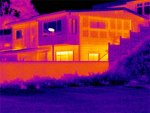 This infrared image was taken by investigators of the outside of Ishikawa's home.