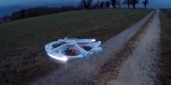 Rose's Millennium Falcon drone prepares for battle.